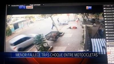 Choque frontal de motocicletas deja un adolescente fallecido