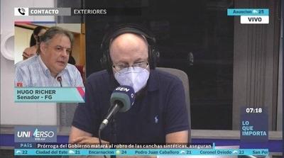 HOY / Senador Hugo Richer, sobre la situación de Sixto Pereira y rumores de crisis en el Frente Guasu