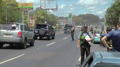 Patrulla Caminera registró gran cantidad de vehículos en ruta al cierre del Operativo Retorno