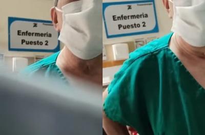 """Gremio repudia """"humillante trato"""" de médico contra un enfermero"""