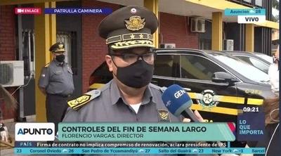 HOY / Florencio Vargas, director Patrulla Caminera, sobre controles del fin de semana largo