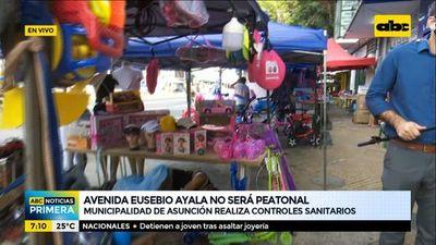 Avda. Eusebio Ayala no será peatonal este año y vendedores tampoco ocuparán el paseo central en vísperas de Reyes