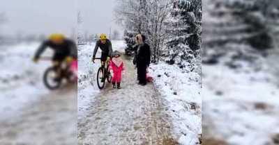 Ciclista arriesga un año de cárcel por botar a una niña de un rodillazo
