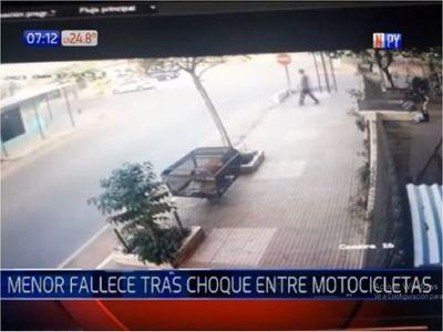 Muere adolescente de 16 años tras un choque entre dos motocicletas