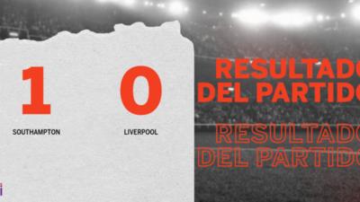 A Southampton le alcanzó con un gol para derrotar a Liverpool en el estadio Saint Mary's Stadium