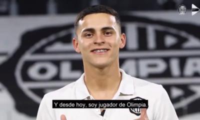 Olimpia presenta oficialmente a Ramón Sosa, su primer refuerzo