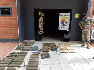Incautan más de 100 kilos de marihuana prensada en Canindeyú