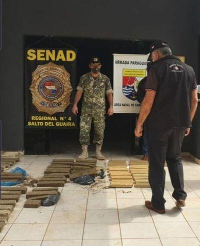 Canindeyu: Hallan abandonada una carga de marihuana prensada