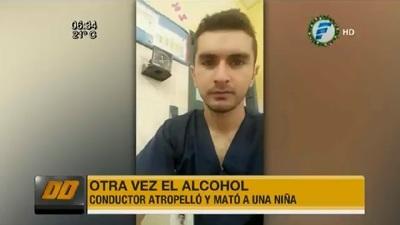 Conductor alcoholizado arrolla y mata a niña de tres años