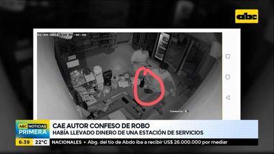 Cae autor confeso de robo a estación de servicios