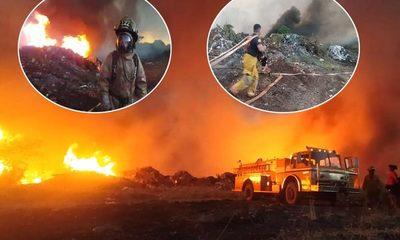 Vertedero se incendia y causa contaminación en Minga Guazú – Diario TNPRESS
