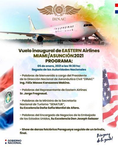 Reactivan hoy vuelos directos entre Asunción y Miami