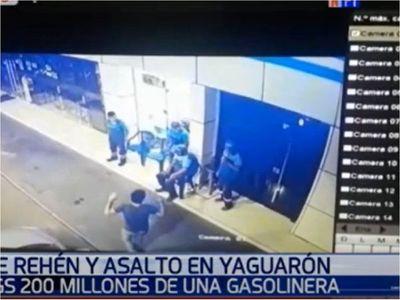 Millonario robo a gasolinera con toma de rehén en Yaguarón