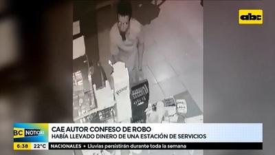 Detenido confiesa que pagó sus cuentas con dinero de robo