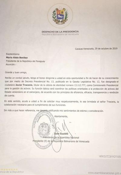 PDVSA: Carta de Guaidó hace suponer que Marito sabía lo que se tramaba