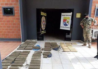 Hallaron una importante carga de marihuana a orillas del río Paraná