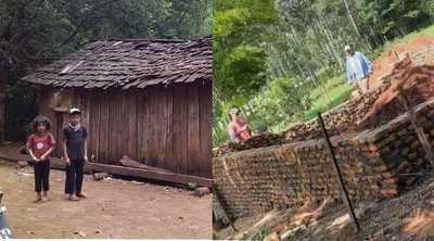 Niños que viven en el bosque tendrán una casita digna