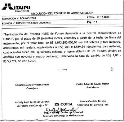Itaipú dará US$ 203 millones a  Brasil, por lo que Paraguay pide lo mismo