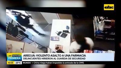 Violento asalto a una farmacia de Areguá