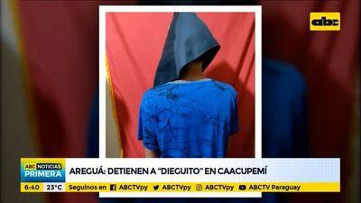 """Detienen a """"Dieguito"""", denunciado por varios robos a vecinos de Areguá"""