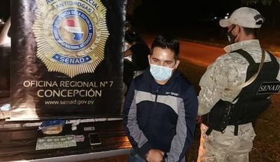 Detienen a pasajero que viajaba con más de dos mil dosis de crack