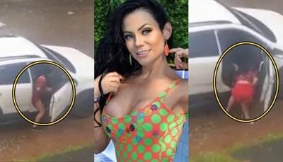 Filtran de Pame Rodríguez siendo golpeada en un vehículo