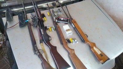 Incautan armas en casa allanada en Minga Guazú