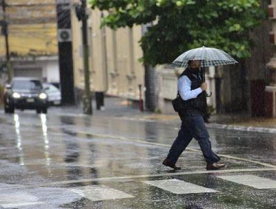 Alerta meteorológica por lluvias y tormentas para 12 departamentos