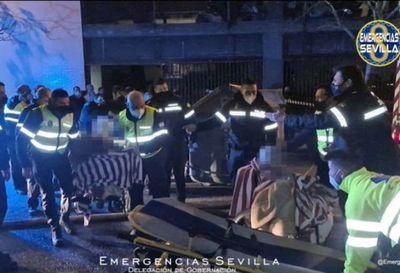 Un muerto y 18 heridos en incendio en residencia de ancianos en España