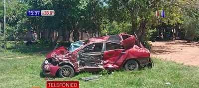 Brutal accidente en Escobar