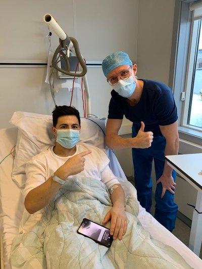 Casi dos meses después, Blas Riveros fue operado con éxito