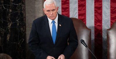 Ataque al Congreso no será tolerado, afirmó vicepresidente de EE.UU.