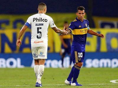 Boca y Santos se pasan la mano