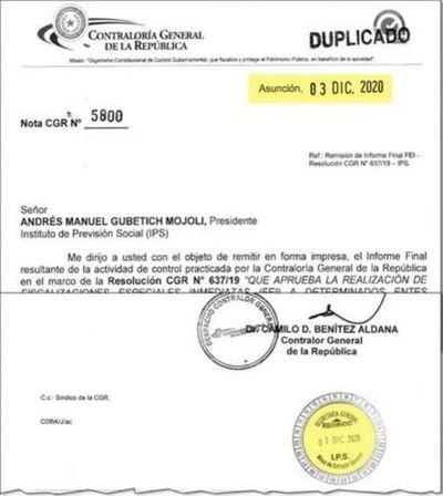 El Consejo de IPS suspende compra de sistema informático