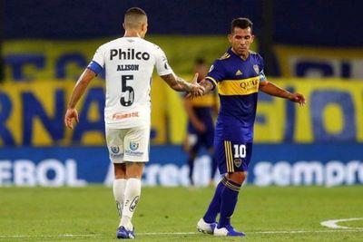 Boca Juniors y Santos se pasan la mano