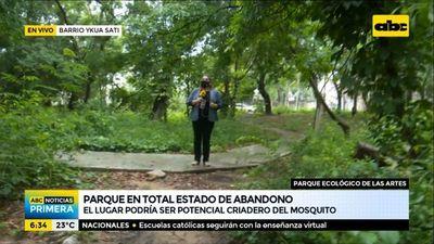 Parque ecológico de las Artes, en total estado de abandono