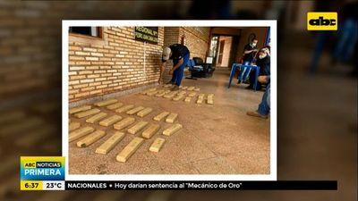 Detenidos e incautación de marihuana en Pedro Juan Caballero