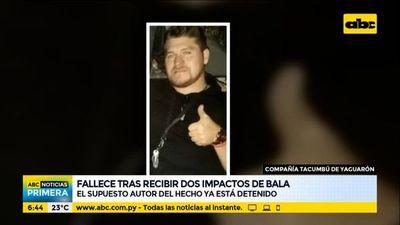 Asesinan a balazos a un hombre en Yaguarón