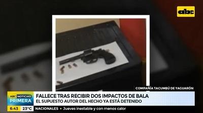 Hombre muere baleado en un camino vecinal de Yaguarón