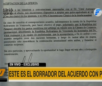 #Exclusivo: Villamayor presentó borrador del acuerdo con PDVSA