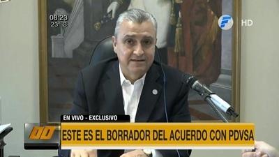 Villamayor presenta borrador de acuerdo con PDVSA