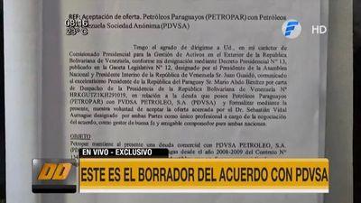 Villamayor presentó supuesto borrador de intento de fato con PDVSA