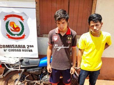 Detienen a dos motochorros tras asaltar a una joven en Ciudad del Este