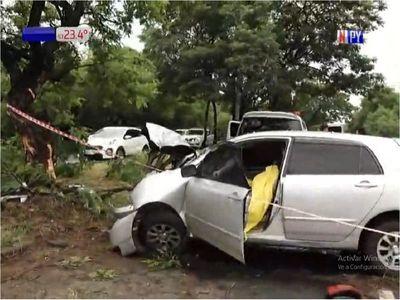 Una joven muere en accidente de tránsito en zona de Ñu Guasu