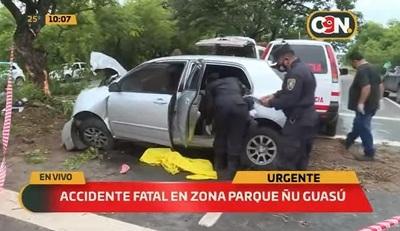 Joven muere tras chocar contra un árbol en la Autopista