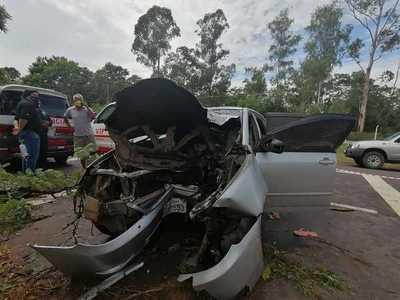 Una joven falleció en aparatoso accidente en zona Ñu Guasú