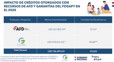 AFD y Fogapy inyectaron a economía US$ 746 millones durante el 2020