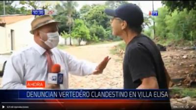 """HOY / """"Negacionista"""" agrede a periodista de Tv: """"Tenés miedo del Covid porque sos gordo"""""""