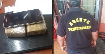 Guardiacárcel intentó introducir droga en la Penitenciaría Regional de CDE