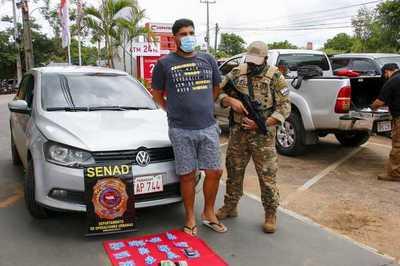 Detienen a distribuidor de cocaína al menudeo en San Bernardino